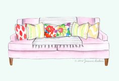 so about that pink couch... by @JoannaLBaker