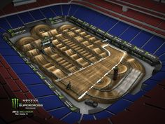 Monster Energy AMA Supercross, from the NRG Stadium in Houston Dirt Bike Track, Rc Track, Motocross Tracks, Monster Energy Supercross, Nrg Stadium, Pumps, Mountain Biking, Yamaha, Houston