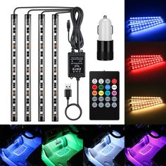 Alichee LED Car Logo Cup Holder Pad 7 Colors Changing USB Charging Mat LED Cup Mat Car Atmosphere Lamp Decoration Lights 2PCS for Hyundai Accessories