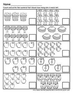 Apple Counting Worksheet 6 by Janet Lee Counting Worksheet, Kindergarten Math Worksheets, Math Activities, Numbers Preschool, Preschool Math, Learning Numbers, Math For Kids, Fun Math, Worksheet For Nursery Class