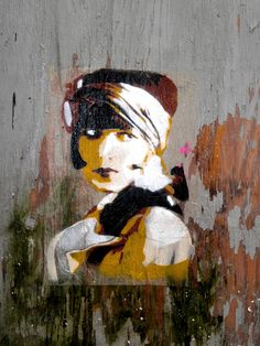 Louise Brookes street art in Paris