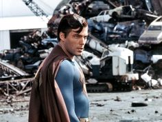"""Christopher Reeve is """"evil"""" Superman. Superman Suit, First Superman, Batman Y Superman, Superman Movies, Dc Movies, Superman Logo, Christopher Reeve Superman, New York City, Superman Pictures"""