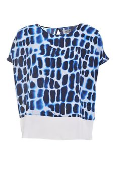 MiH Jeans The Boxy Slouch Top Croc Batik Silk