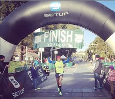 Florida A&M alumni Jordan Zwick with a convincing win in the City of Oaks Half Marathon.  Shoes: Salming Race