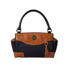 Classic navy with chestnut faux leather.  #Miche #deRosePursonalities