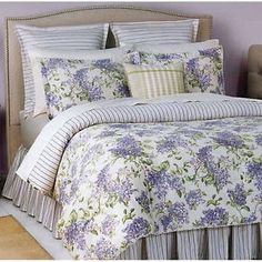Waverly sweet violets fabric purple green lavender floral shower ... : waverly sweet violets quilt set - Adamdwight.com