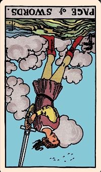 The Card of the Day: The Page of Swords (Reversed) — Elliot Oracle - Tarot Card Readings