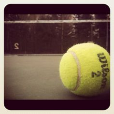I wish I could play tennis well. This picture makes tennis look dramatic, which it is when you can actually hit the ball!