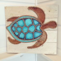 "New! Sea Turtle 23"" x 22"" 