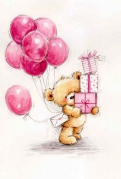 drawing Birthday happy art illustrators pictures 57 ideas for 2019 Happy Birthday Drawings, Happy Birthday Images, Happy Birthday Greetings, Birthday Messages, Birthday Presents, Happy Birthday Teddy Bear, Happy Birthday For Her, Birthday Cakes, Tatty Teddy