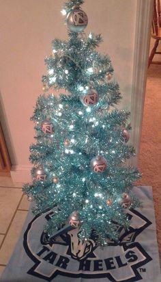 My UNC Tarheels Christmas tree. :)