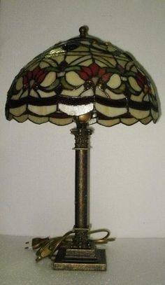 Lampada stile liberty con scatolina vetro e gemme. | Lampade Tiffany ...