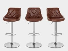 Hype Bar Stool Antique Brown - Atlantic Shopping Brown Leather Bar Stools, Foot Rest, Polished Chrome, Metal Working, Contemporary Design, Antiques, Modern, Shopping, Home Decor