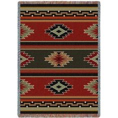 Southwest Sampler Red And Green Blanket   Pure Country - $50
