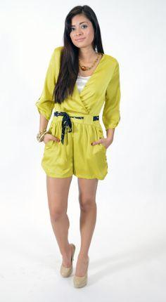 Lime Romper, Summer Fashion, Summer 2014, Romper, www.threeclothing.com