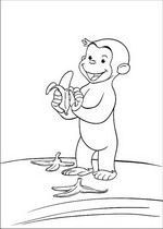 coloring page Curious George