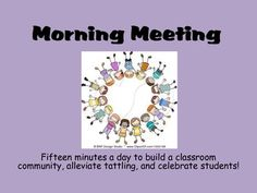 All the routines you need to establish a morning meeting with 48 different greetings that can be used over and over again!
