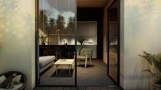 #aranzacjatarasu #terracedecor #wooden #minimalisthome #minimalism #plantsinhome #minimalistinterior #moderninteriors #blackandwhiteinterior #plants #interiordesign #architekturawnetrz #smallgarden #design #eclectic #cozy #cosy #harmony #pracowniasttyk #sttyk #estetyka Oversized Mirror, Divider, Room, Furniture, Home Decor, Bedroom, Decoration Home, Room Decor, Rooms