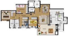 Apartamento em São Paulo/Vila Carrão de 3 a 4 dormitórios Felicitá – Gafisa – Grandes ideias para viver bem
