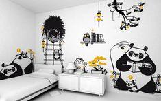 Kit Adesivos Família Panda - 2F3336 | ADcorista Arte & Decoração | Elo7