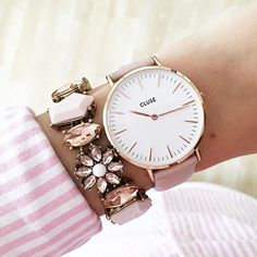 Hues of Pink Statement Bracelet #pink #stylish #girly -  16,90 € @happinessboutique.com