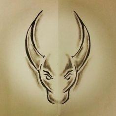 Taurus tattoo sketch (design from google search) Sketch Tattoo Design, Tattoo Sketches, Tattoo Drawings, Art Sketches, Tattoo Designs, Sketch Design, Love Tattoos, Tribal Tattoos, Tattoos For Guys
