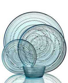 Iittala Dinnerware, Kastehelmi Blue Collection