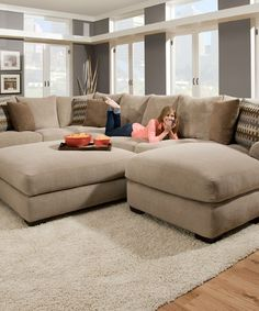 Grand Island Large 7 Seat Sectional Sofa With Right Side