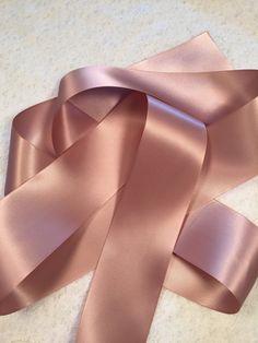 Pink Ribbon/Antique Mauve Satin Ribbon/Rose Gold Ribbon/Wedding Dress Sash/Mauve Satin Ribbon/Pink W