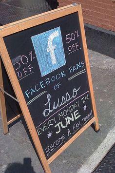 https://social-media-strategy-template.blogspot.com/ #Lusso markets #discounts through becoming a fan on #Facebook