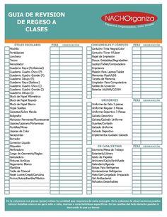 CHECKLIST REGRESO A CLASES                                                                                                                                                                                 Más