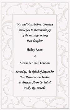 9de1724e76cc Elegant Swirls Wedding Invitation Kit - Wilton Wedding Invitation Kits
