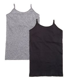 Another great find on #zulily! Gray & Black Seamless Shaper Camisole Set by Body Beautiful #zulilyfinds