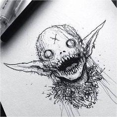 art drawing creepy – art drawing creepy drawing … – Graffiti World Demon Drawings, Creepy Drawings, Dark Art Drawings, Art Drawings Sketches, Cool Drawings, Satan Drawing, Creepy Sketches, Fantasy Drawings, Halloween Drawings