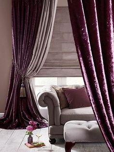 Ideas for farmhouse curtains bedroom floors Velvet Bedroom, Velvet Drapes, Purple Curtains, Drapes Curtains, Winter Curtains, Shower Curtains, Sheer Drapes, Bedroom Curtains, Modern Curtains