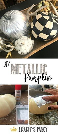 Upscale Farmhouse Painted Pumpkins by Tracey's Fancy Metal Pumpkins, Painted Pumpkins, Fall Pumpkins, Diy Home Decor On A Budget, Fall Home Decor, Diy Craft Projects, Diy Crafts, Fall Projects, Fall Crafts