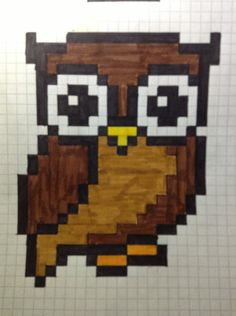 Owl perler bead pattern by ~DeiDeiCat98 on deviantART