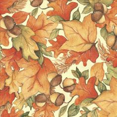 Autumn Leaves Susan Winget Quilt Fabric. gsmdsigns