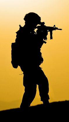 US Navy SEAL at dusk #military #war #soldiers #usa #guns