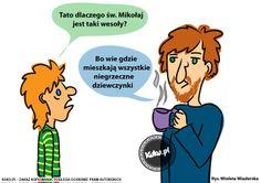 """Komiks """"Dlaczego Mikołaj jest taki wesoły?"""" (źródło: http://kuku.pl)"""
