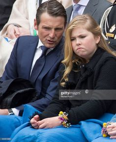 Prince Maurits talks with Crown Princess Catharina-Amalia of The Netherlands during celebrations marking the birthday of the King on King's Day on April 2016 in Zwolle, Netherlands. Get premium, high resolution news photos at Getty Images Royal Tiaras, Royal Jewels, Crown Royal, Dutch Princess, Little Princess, Adele, Dutch Royalty, Three Daughters, Royal Babies