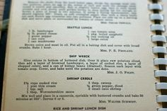 Recipe for Ship Wreck Casserole from 1940. My mom makes something like this. Delicious!