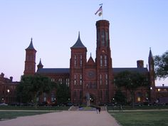 "The Smithsonian ""Castle"" is the iconic original museum of the many world-renowned Smithsonian museums in DC - from Natural History to American Art and the famous Air & Space Museum! Discover more at www.discoveramerica.com."
