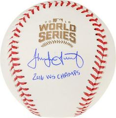 Jake Arrieta Chicago Cubs Fanatics Authentic 2016 MLB World Series Champions Autographed World Series Logo Baseball with 2016 WS Champs Inscription Red Sox Baseball, Baseball Socks, David Price, Autographed Baseballs, Kansas City Royals, Boston Red Sox, Chicago Cubs