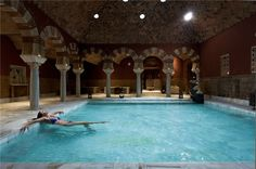 The Arabic Baths, in Cordoba Spain