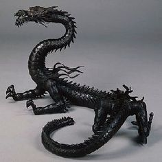 Jizai Okimono by Kozan Takase (18th century), Japan :Jizai Okimono are realistically shaped figures of animals made from iron, copper. Their bodies and limbs are articulated, and can be moved like real animals.