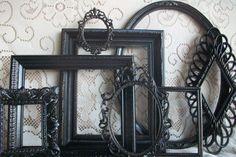 Black Picture Frames Set