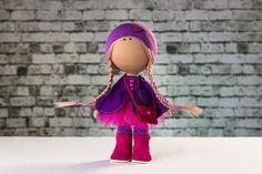 Doll Connie. Tilda doll. Textile doll. Soft toy. Cute от OwlsUa