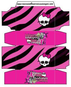 Monster High   Kit Completo Com Molduras Para Convites, Rótulos Para  Guloseimas, Lembrancinhas E Imagens!