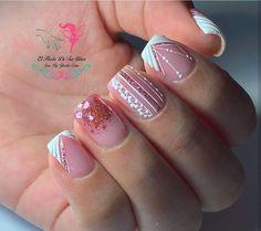 Nail Spa, Nail Manicure, Toe Nails, Girls Nail Designs, Nail Art Designs, Girls Nails, Luxury Nails, Glitter Nails, Acrylic Nails